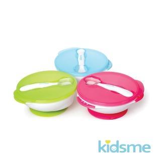 【kidsme】寶寶練習吸盤碗+感溫變色湯匙