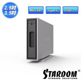 【STARDOM 銳銨】i310-B31+ USB3.1 Gen2 Type-C 1bay 硬碟外接盒(磁碟陣列)