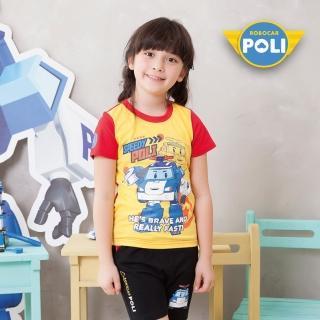 【POLI 波力】波力主角短袖上衣-黃(P2141-33)
