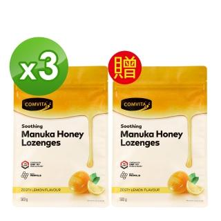 【Comvita 康維他】蜂膠麥蘆卡蜂蜜潤喉糖-買3送1(喉嚨好舒暢)