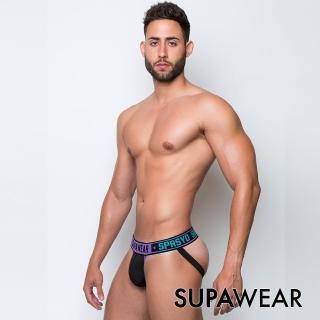 【SUPAWEAR】魔鬼終結者-拼接超彈性男後空褲(紫色)
