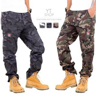 【YT shop】輕薄耐磨防割迷彩六口袋工裝褲(工作褲)