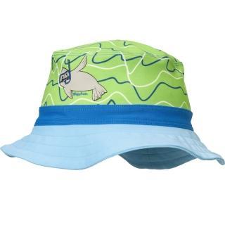【德國Playshoes】嬰兒童抗UV防曬水陸兩用漁夫帽-小海豹(護頸遮脖遮陽帽泳帽)