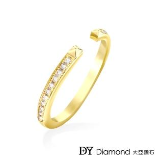 【DY Diamond 大亞鑽石】L.Y.A輕珠寶 18黃K金 時尚 鑽石線戒