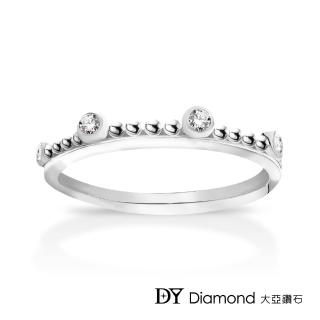 【DY Diamond 大亞鑽石】L.Y.A輕珠寶 18K白金 古典 鑽石線戒
