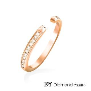 【DY Diamond 大亞鑽石】L.Y.A輕珠寶 18K玫瑰金 時尚 鑽石線戒