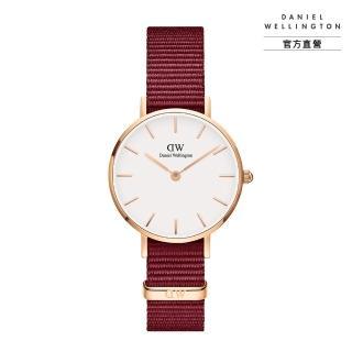 【Daniel Wellington】官方直營 Petite Roselyn 28mm玫瑰紅織紋錶(DW手錶DW00100293)