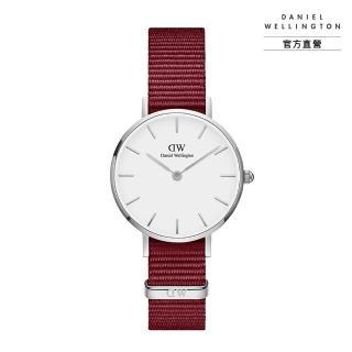 【Daniel Wellington】官方直營 Petite Roselyn 28mm玫瑰紅織紋錶(DW手錶DW00100294)
