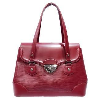 【Louis Vuitton 路易威登】M4022M Epi水波紋Bagatelle GM手提/肩揹醫生包(紅色-絕版品)