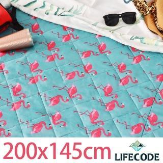 【LIFECODE】火烈鳥涼感防水可水洗野餐墊200x148cm
