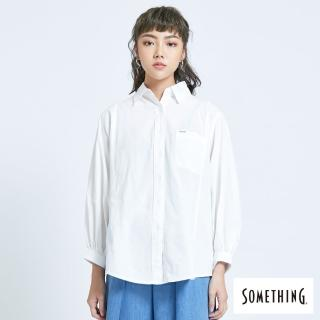 【SOMETHING】寬袖休閒襯衫-女款(白色)