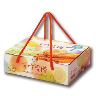 【一之軒】12入手作蛋捲禮盒(蛋捲.酥脆口感.濃郁蛋香.伴手禮)