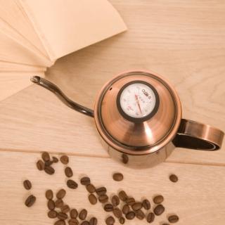 【HERO】古銅金細口壺0.5L+濾紙+溫度計