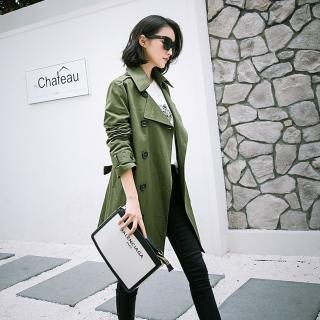 【SZ】帥氣時尚百搭大翻領風衣外套S-XL(共三色)