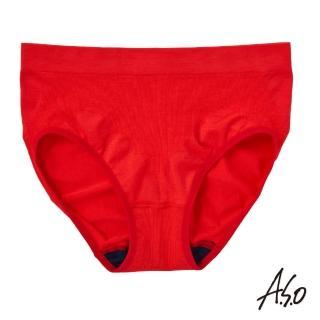 【A.S.O 阿瘦集團】負離子女性內褲無縫修飾款(紅色)