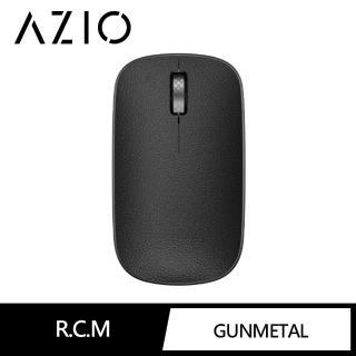 【AZIO】AZIO RETRO R.C.M. GUNMETAL 無線藍牙復古牛皮滑鼠 黑色(藍牙滑鼠)