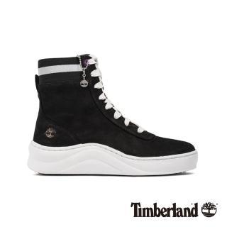 【Timberland】女款黑色磨砂革厚底高筒運動鞋(A22VE001)