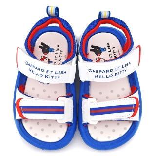 【童鞋城堡】麗莎與卡斯伯xKitty 中童 清新簡約款涼鞋(GK4002-白)