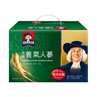 【QUAKER 桂格】無糖養氣人蔘禮盒60ml×19入
