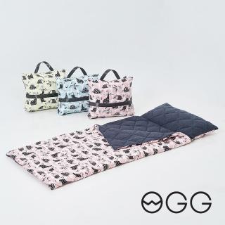 【OGG】搖滾恐龍輕巧防抗菌兒童睡袋(幼兒園午休睡袋、露營防撥水睡袋)