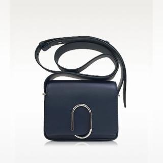 【3.1 Phillip Lim】Alix 小牛皮 迴紋針造型扣 斜背包 肩側背包 深藍色(斜背包 側背包 側肩包 手提包)