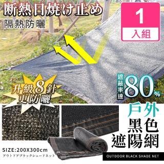 【Effect】戶外防曬隔熱黑色遮陽網(1入組/200x300cm)