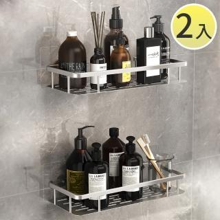 【SPACE】買一送一 太空鋁不鏽鋼螺絲無痕貼浴室置物架