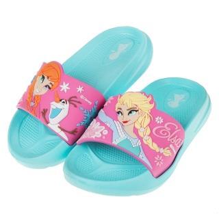【布布童鞋】Disney迪士尼冰雪奇緣湖水綠立體兒童輕量拖鞋(B9E015C)