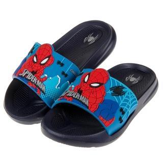 【布布童鞋】Marvel英雄系列蜘蛛人離家日藍色立體兒童輕量拖鞋(B9H016B)