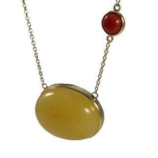 金玉滿堂收藏級珠寶巨型蛋面蜜蠟項鍊