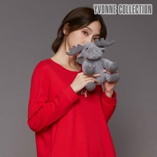 【Yvonne Collection】馴鹿造型小玩偶(灰)