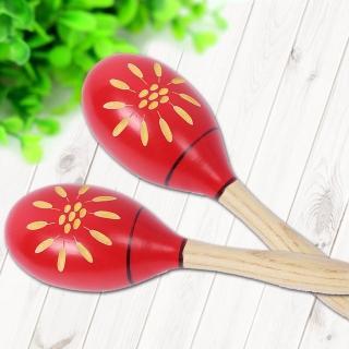 【美佳音樂】奧福樂器/兒童樂器 手工雕刻 專業/大型 木製/手搖 沙鈴(2入一組/沙錘/沙槌)