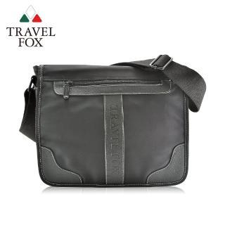 【TRAVEL FOX 旅狐】雲端休閒商務斜背包(TB578-01 黑色)