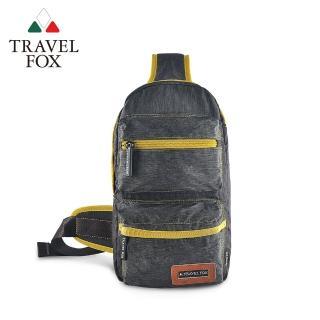 【TRAVEL FOX 旅狐】單肩休閒車縫斜肩包(TB676-98 灰色)