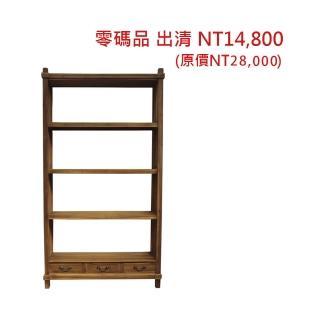 【吉迪市柚木家具】柚木四層三抽置物架 MU-03B(收納櫃 層架 展示架 書架 抽屜)