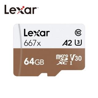 【Lexar 雷克沙】64GB Professional 667x microSDXC UHS-I U3 A2 V30 記憶卡