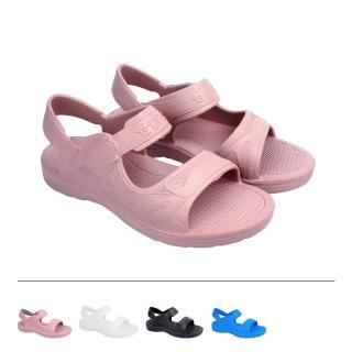 【母子鱷魚】防水輕量晴雨氣墊涼鞋