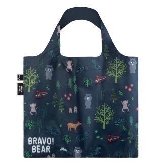 【LOQI】熊讚系列 - 熊讚 山林 BB02(購物袋.環保袋.收納.春捲包)