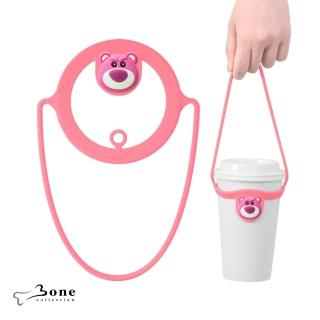 【Bone】Cup Tie 環保杯綁 飲料提袋 - 熊抱哥 玩具總動員(環保矽膠飲料袋 迪士尼授權)