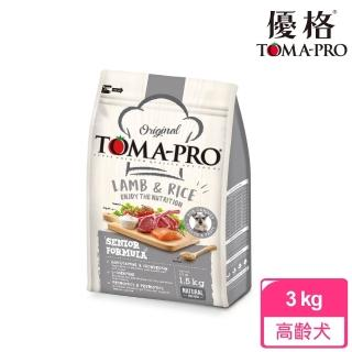 【TOMA-PRO 優格】經典系列狗飼料-高齡犬 羊肉+米 3 公斤(高纖低脂配方)