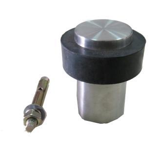 DS-3013 2入裝 鋅合金門檔 銀色圓形門擋 門檔 59.5*43mm 門止 門碰(門頂 戶檔 門擋 無磁戶擋)
