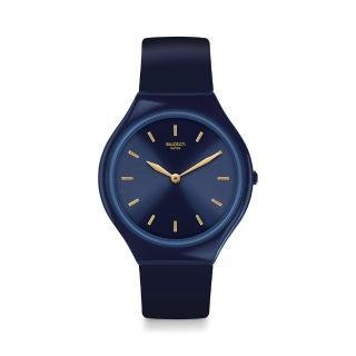 【SWATCH】SKIN超薄系列手錶 SKINAZULI 湛藍(36.8mm)