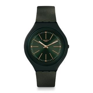 【SWATCH】SKIN超薄系列手錶 SKINCAPPERO 深綠(40mm)
