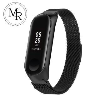 【MR】小米智慧手環4 米蘭式磁吸錶帶(黑色)