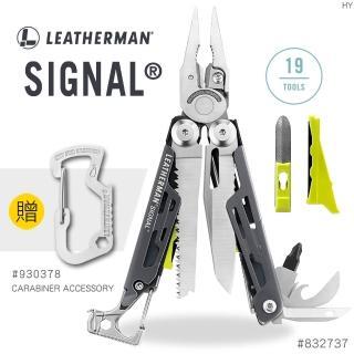 【Leatherman】SIGNAL 灰/黃色工具鉗#832737(附收納套)
