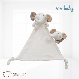 【Oragnic】有機棉大象手帶鈴與安撫巾組