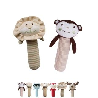 【Oragnic】有機棉動物造型啾啾棒(獅子/猴子)