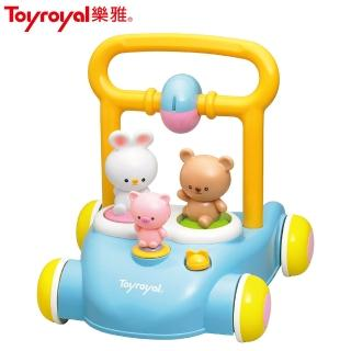【Toyroyal 樂雅】森林好朋友音樂助步車(學步滑步車幼兒收納方便三階段)