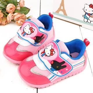【童鞋城堡】麗莎與卡斯伯xKitty 中童 輕量透氣運動鞋(GK7966-桃)