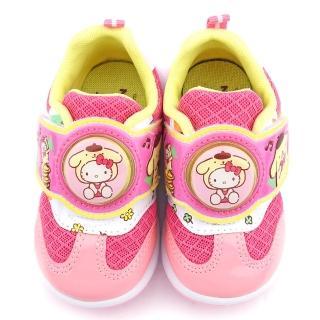 【童鞋城堡】Kitty X 布丁狗聯名款 中童 透氣款LED燈運動鞋(KT7179-粉)